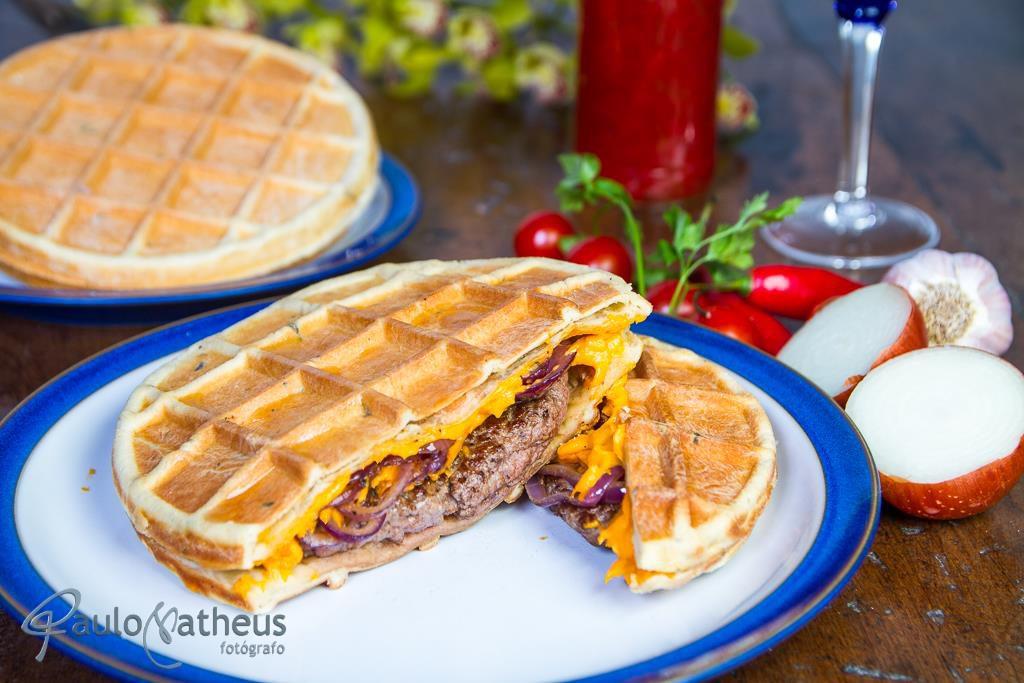 wafe de filé mignon em fotografia de gastronomia