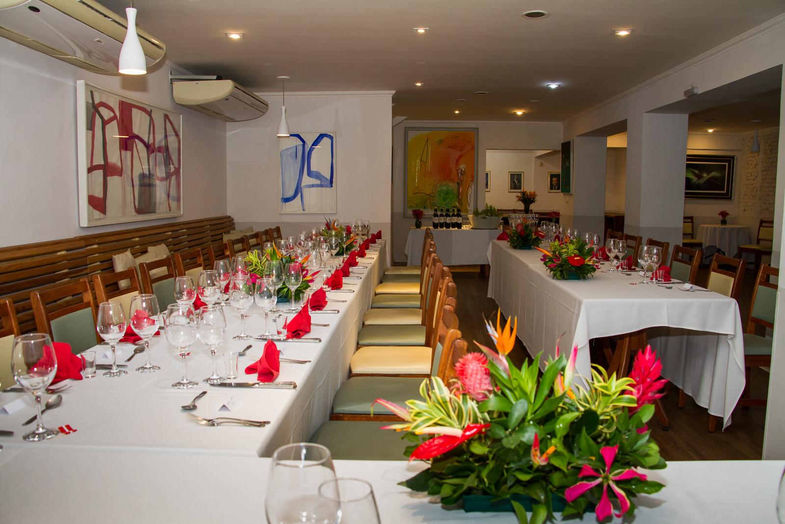 foto do restaurante na visita da Princesa Benedikte da Dinamarca no Brasil
