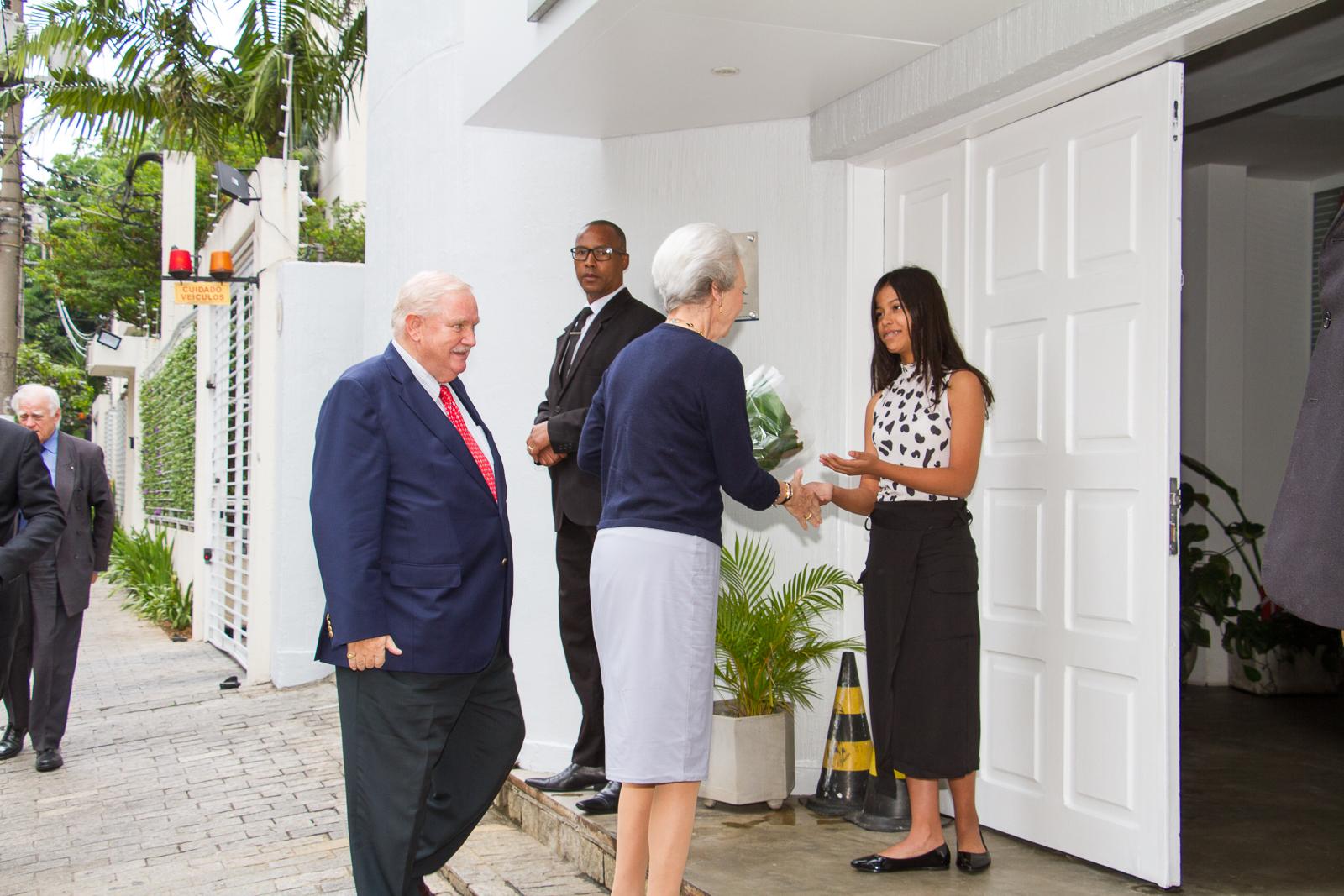 Cegada da princesa na visita da Princesa Benedikte da Dinamarca no Brasil