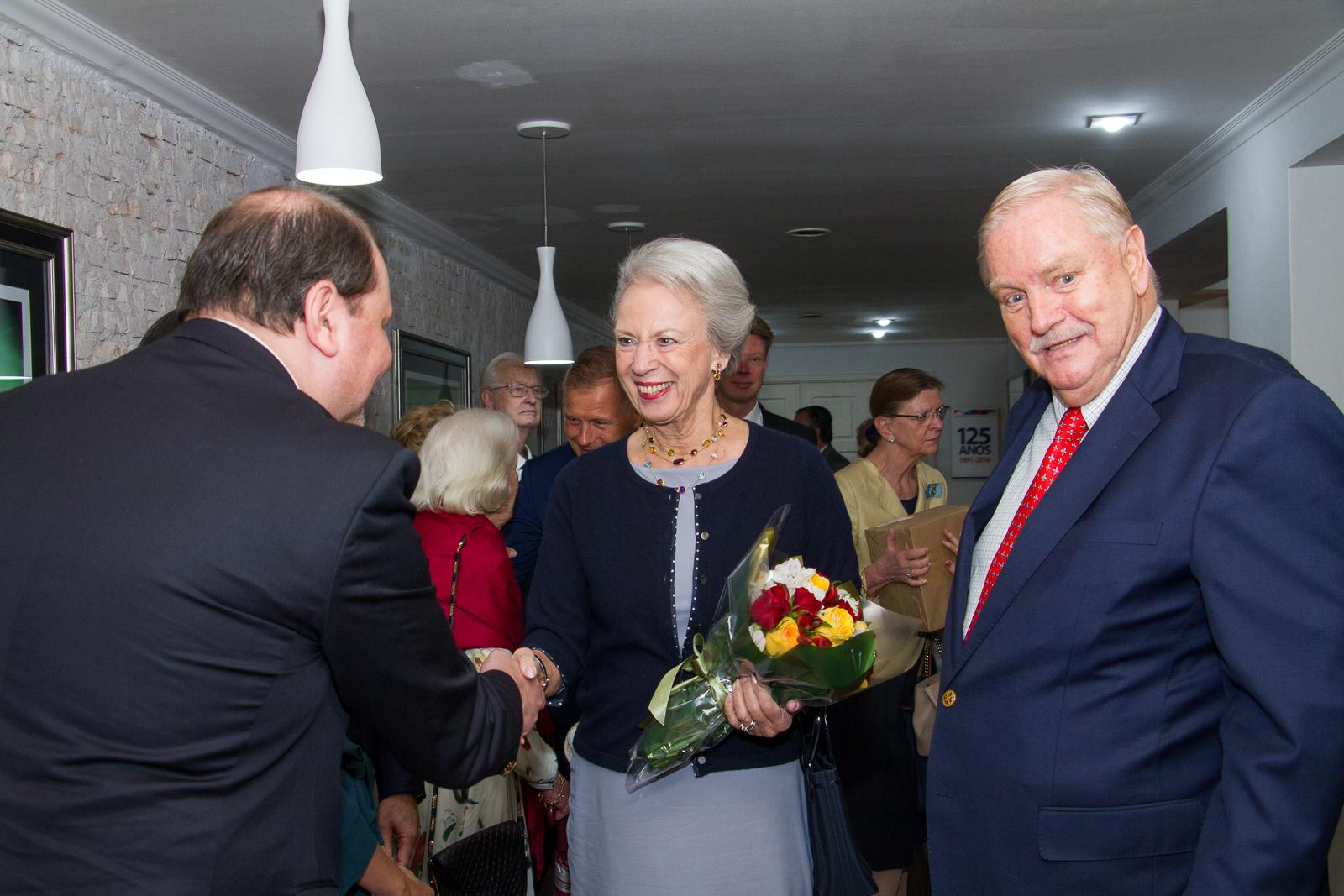 recepção no almoço na visita da Princesa Benedikte da Dinamarca no Brasil