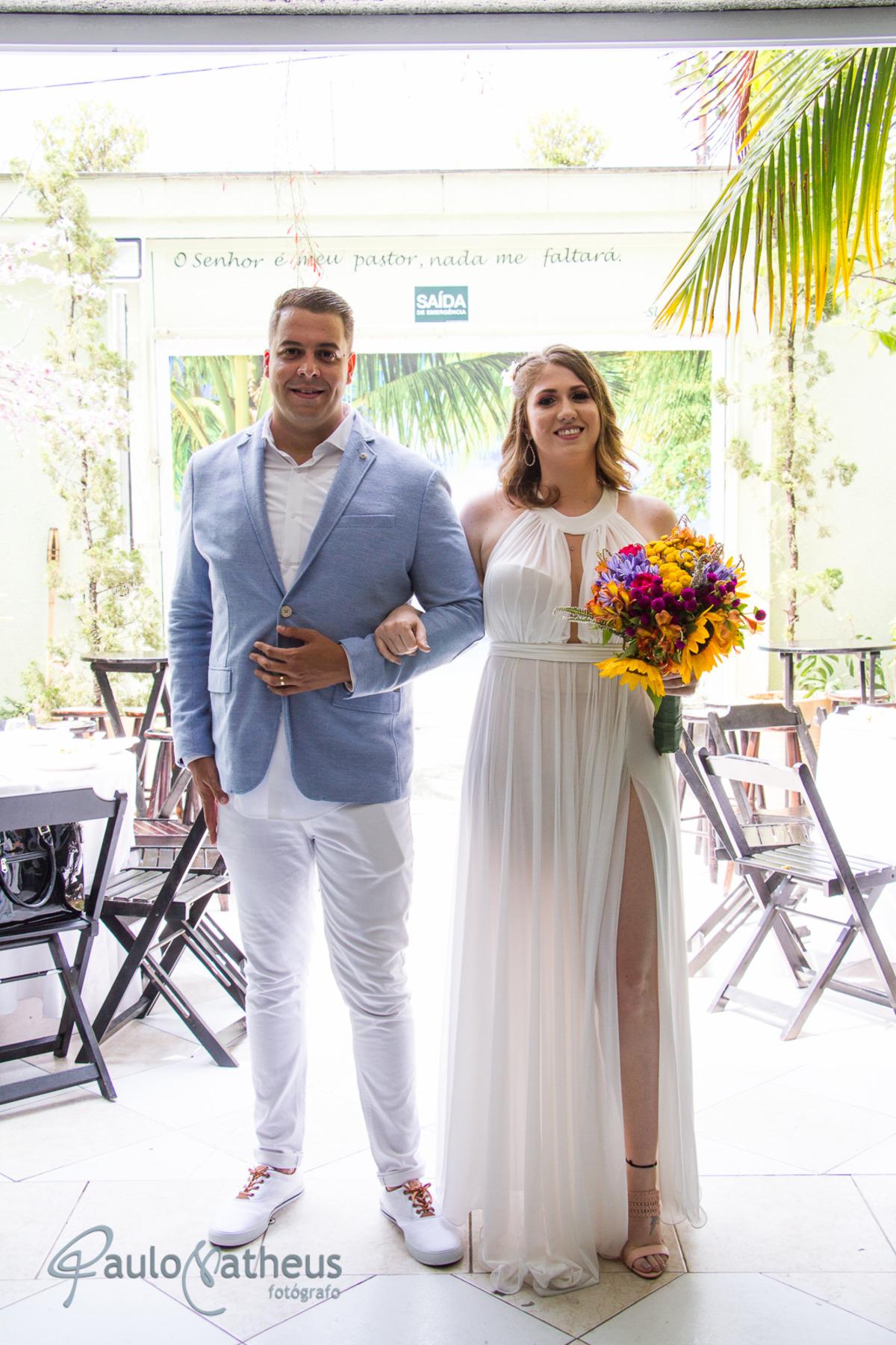 entrada do casal fotógrafo de casamento em Guarulhos