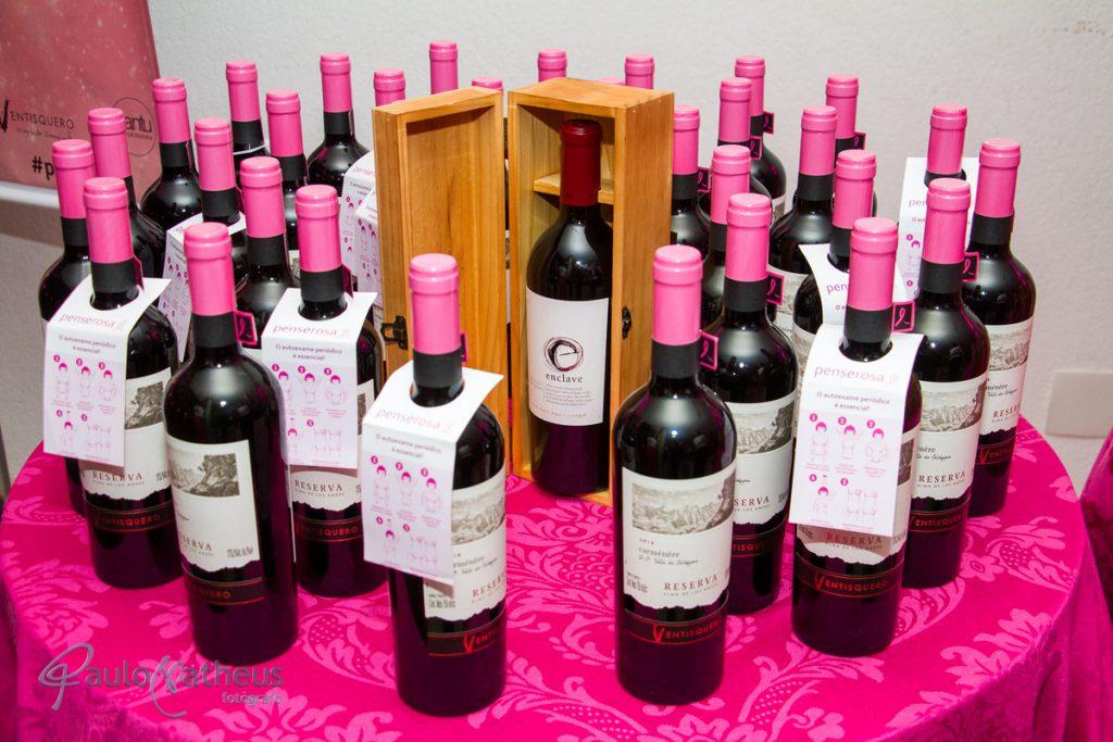 vinhos no jantar beneficente outubro rosa