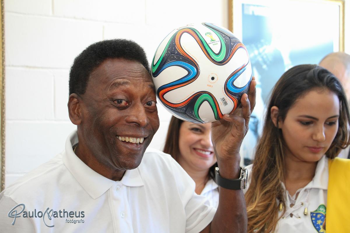 Rei Pelé registrado por Paulo Matheus fotógrafo para evento corporativo