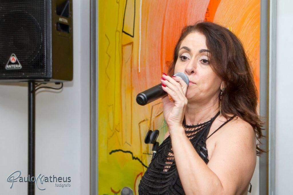 Fátima Fonseca em festa de aniversário de 127 anos da Associação Escandinava em São Paulo