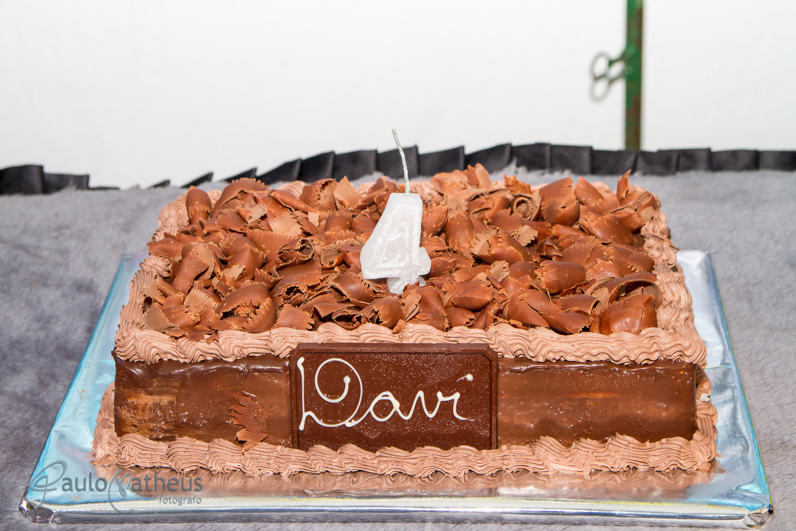 Bolo de festa de aniversário do Davi