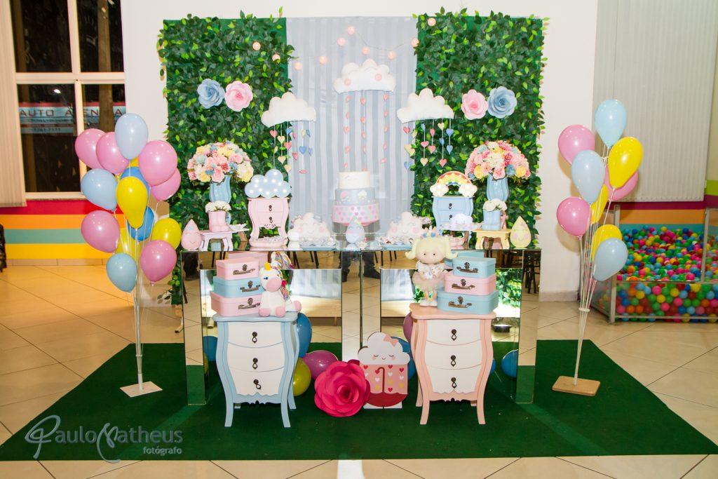 decoração de festa de aniversário de um ano por Paulo Matheus fotógrafo infantil