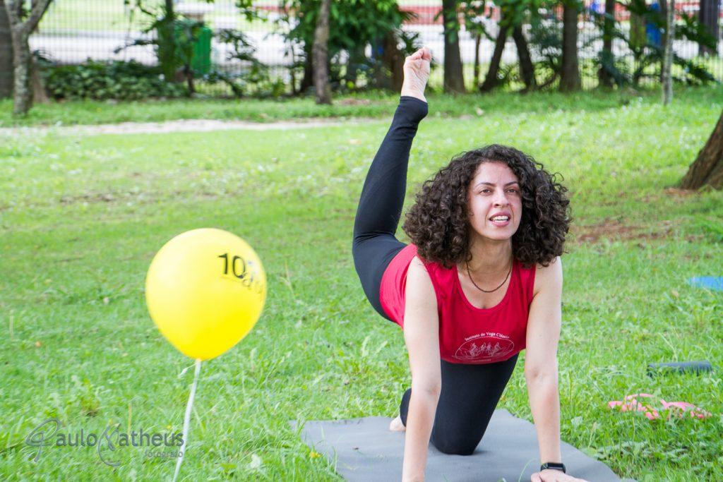 Curso de yoga no Aniversário da Biblioteca de São Paulo