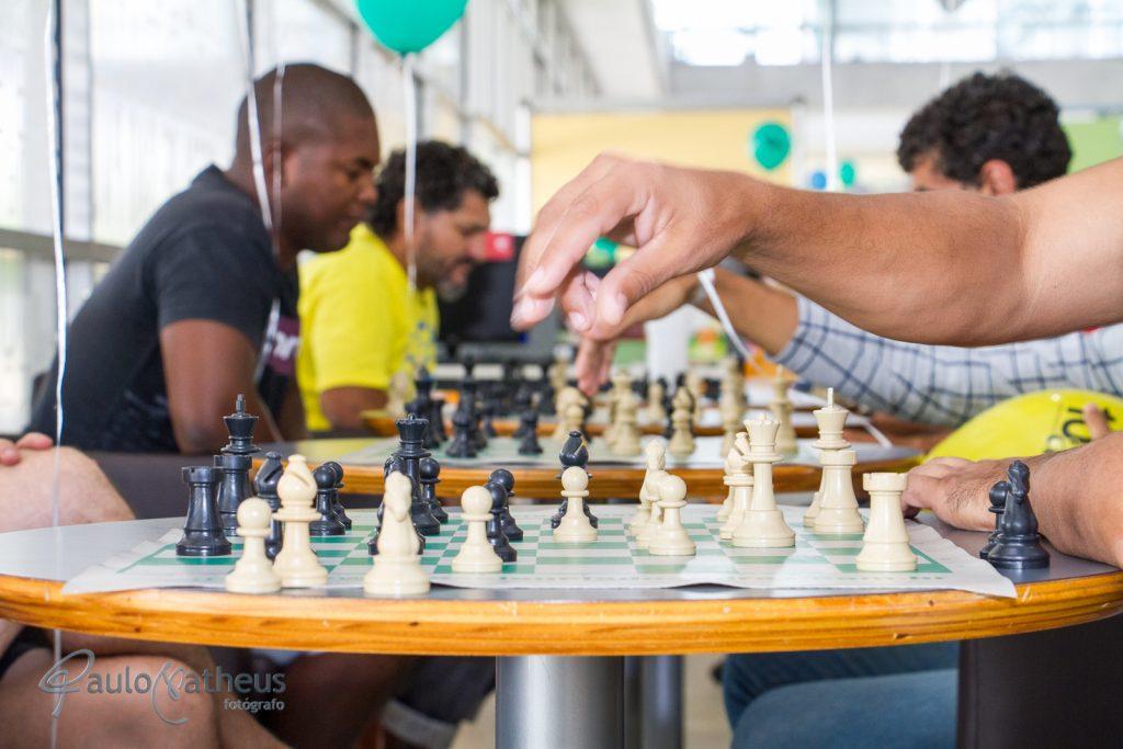 Jogos de xadrez no Aniversário da Biblioteca de São Paulo