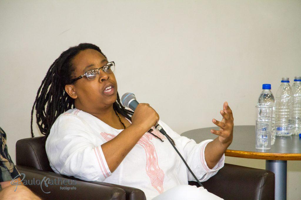 Escritora Cidinha da Silva no Aniversário de 10 anos da BSP