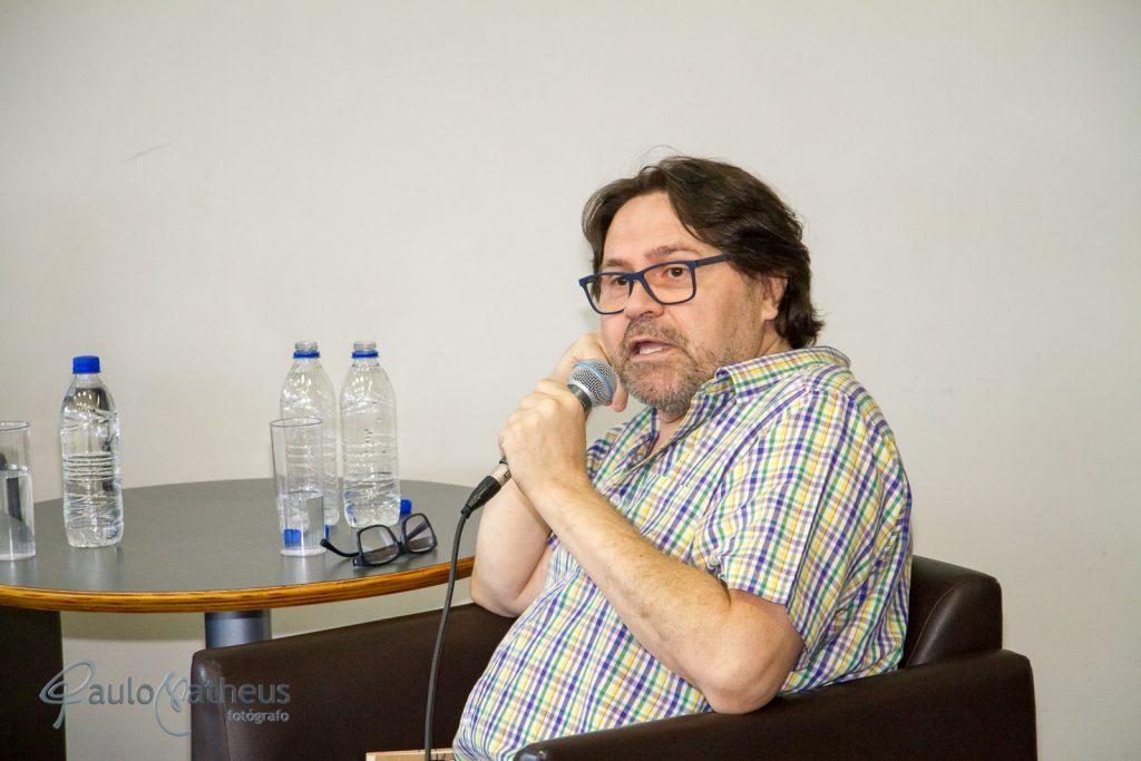 Escritor Marcelino Freire no Aniversário de 10 anos da BSP